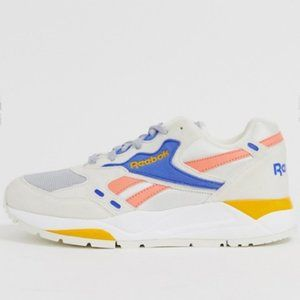 Reebok bolton sneaker in chalk and pink NWT